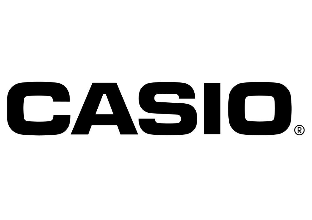 casio logo black